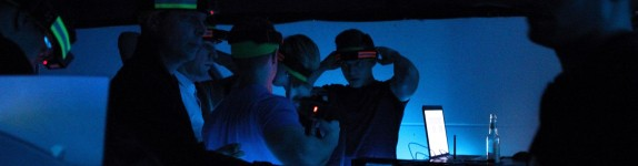 Gruppe in Lasertag Lobby